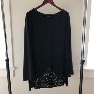 Long Sleeved Black Dress
